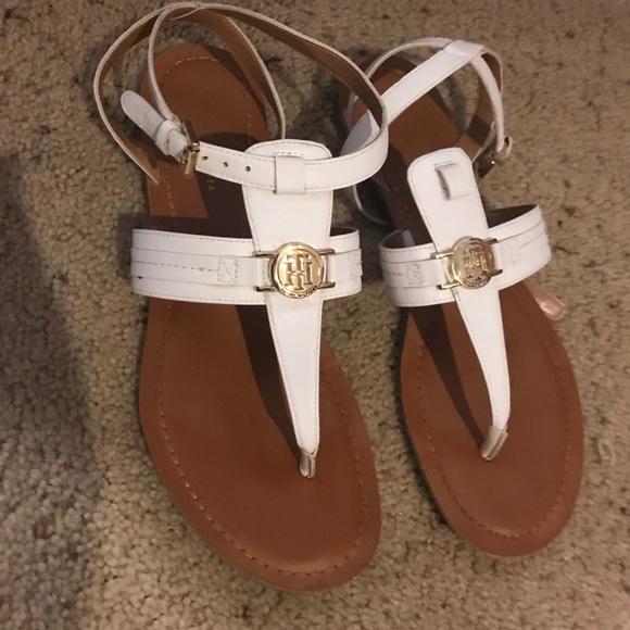 White Tommy Hilfiger Sandals | Poshmark